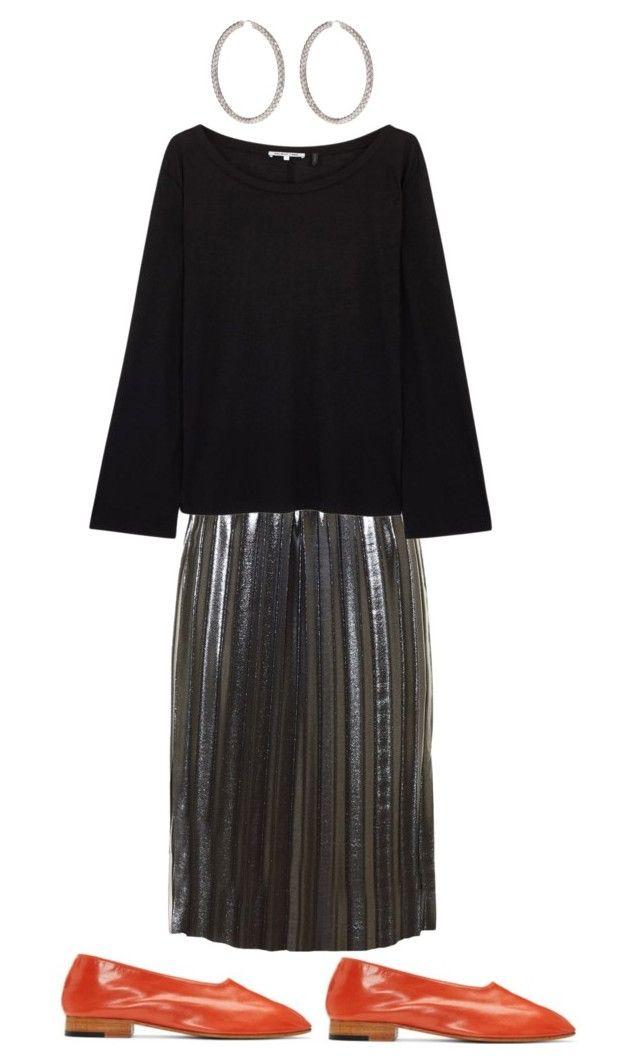 """Silver skirt"" by kirsti-salonen on Polyvore featuring Étoile Isabel Marant, Helmut Lang, Bottega Veneta and Martiniano"