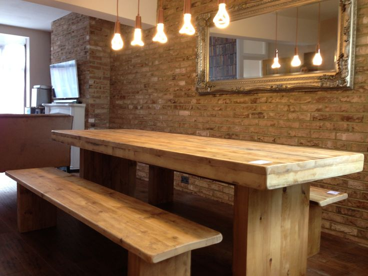 1000 Ideas About Chunky Dining Table On Pinterest Farm Tables Rustic Wood