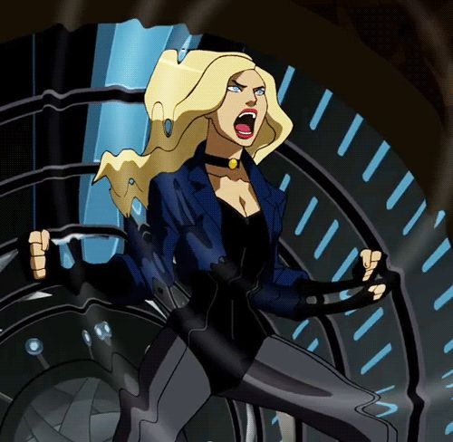 justice league black canary dinah lance gif mine young justice popular - picslist.com