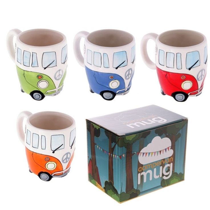 Click that link to learn more about Funky Novelty Camper Van Design Ceramic Mug by weeabootique!