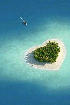 Tavarua island in Fiji