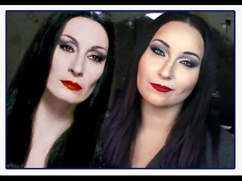 Morticia Addams Realistic Makeup Tutorial - YouTube