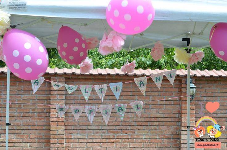 baloane-roz-polka-dots-articole-petrecere