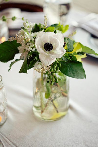 Vintage Green White Centerpiece Centerpieces Vineyard Wedding Flowers Photos & Pictures - WeddingWire.com