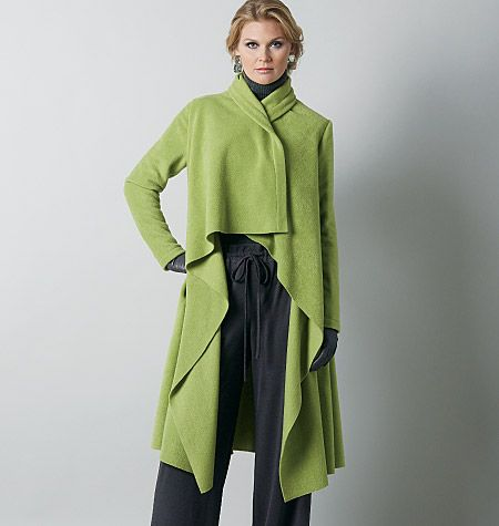 Vogue pattern V8780; love the free feeling of the coat and LOVE the color!!
