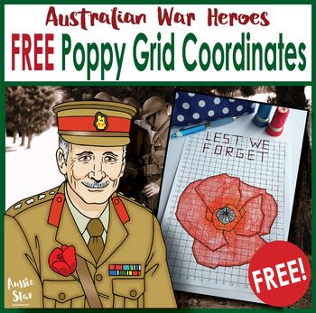 Challenge your students with this FREE mathematics grid coordinates activity as part of your Remembrance day topic. This activity has been designed for students in years 5, 6 & 7 and is very challenging with 186 steps to create the poppy outline and phrase 'Lest We Forget'.