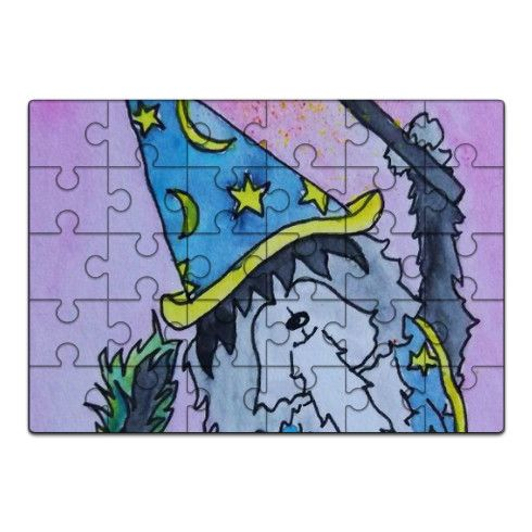 Luca The Wizard Pup Jigsaw by dragonfairy at zippi.co.uk