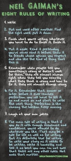 Neil Gaiman's rules of writing
