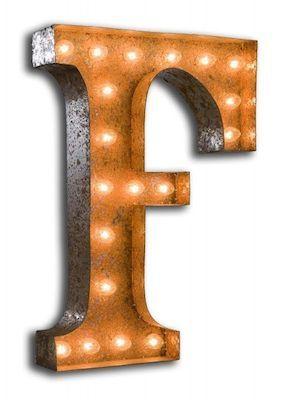 Vintage F letter light