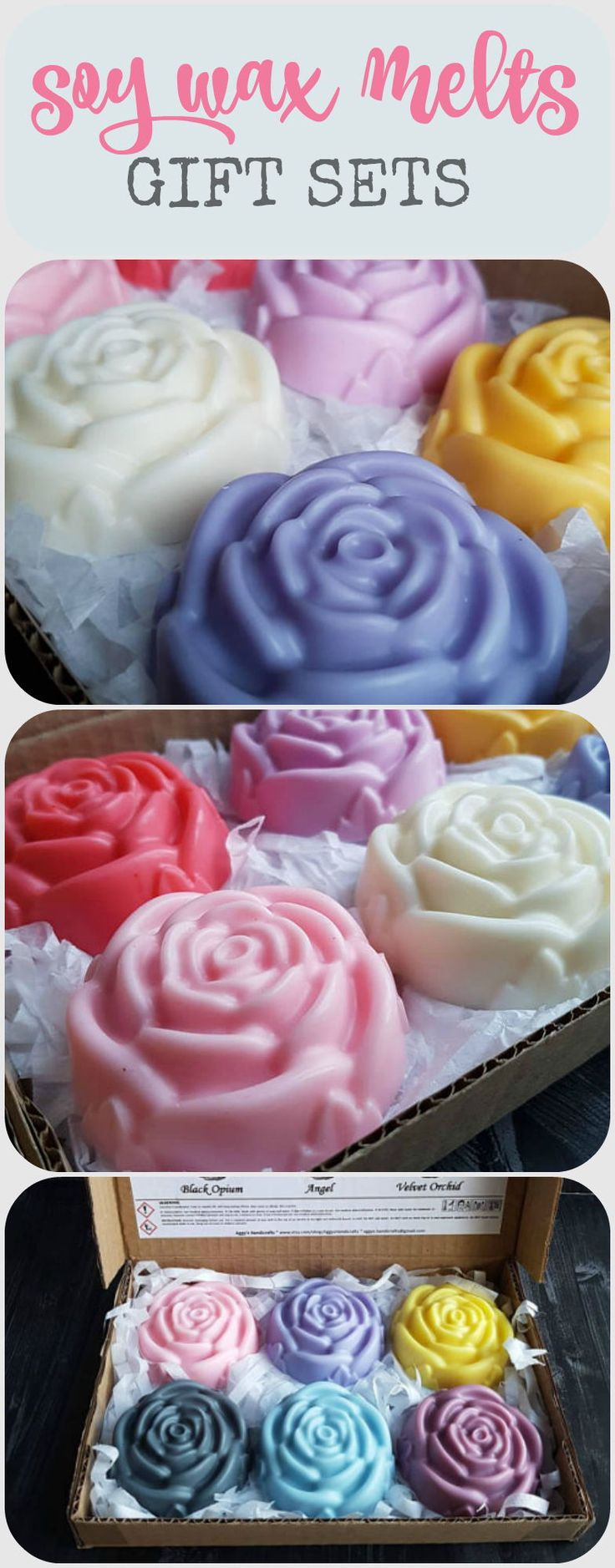 These Eco Soy wax melts look gorgeous. Love the choice of scents! Personal message can be added which makes it a perfect gift for mother's day or a birthday #soywax #waxmelts #giftideas #ad #mothersday #mothersdayideas #mothersdaygift #birthdaygiftideas