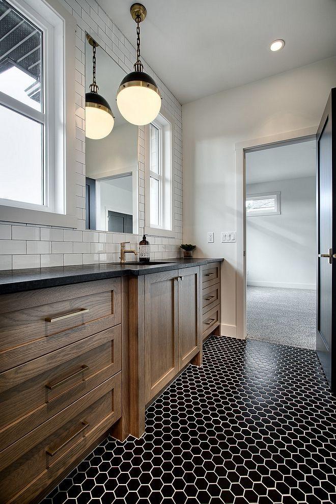 Modern Farmhouse Bathroom With A Large Rough Sawn White