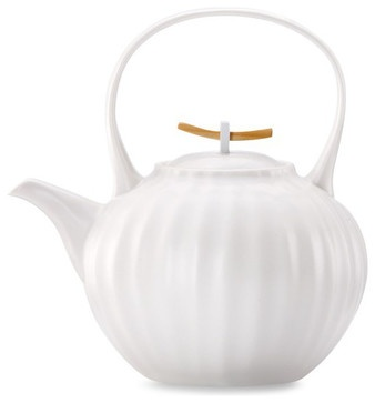 Donna Karan Lenox Porcelain Touch Teapot - modern - coffee makers and tea kettles - Bed Bath and Beyond