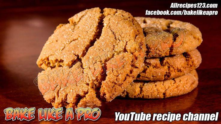 SOFT Sugar Top Gingerbread Crackle Cookies Recipe By BakeLikeAPro