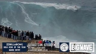 Sebastian Steudtner at Nazare - 2016 Billabong Ride of the Year Entry - WSL Big Wave Awards - YouTube