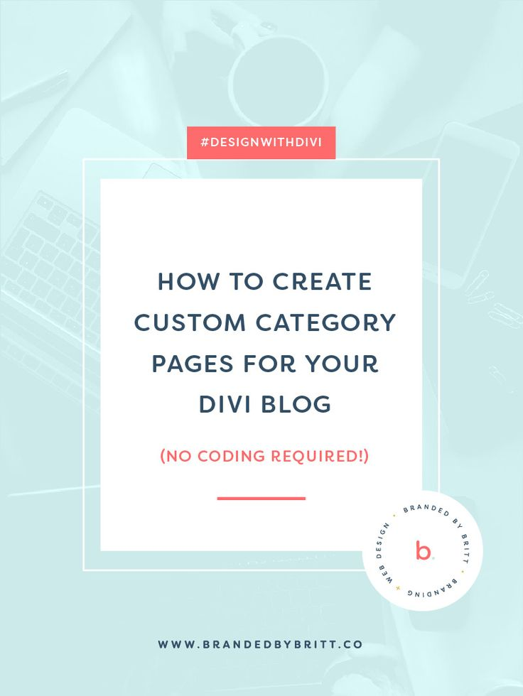 How To Create Custom Category Pages For Your Divi Blog   Design With Divi is a weekly blogging series for creative entrepreneurs where I share tips + tutorials on the Divi Theme by Elegant Themes to help your website stand out beautifully. In this post, I'm going over how to create custom category pages for your Divi blog.