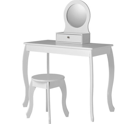 Buy Collection Mia Dressing Table and Stool - White at Argos.co.uk, visit Argos.co.uk to shop online for Children's dressing tables, Children's furniture, Home and garden