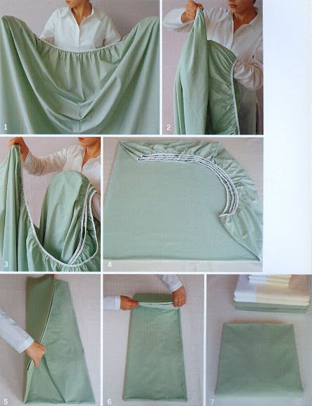 How to Fold a Fitted Sheet. Wish this were a bit easier to follow, but hopefully I can figure this out because I desperately want/need to know how to do this!