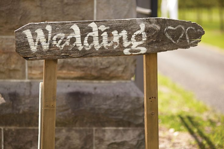 Hand made rustic directions at this country style #wedding reception.