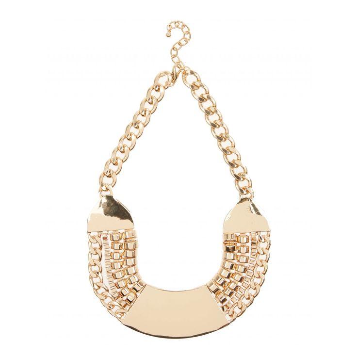 Chunky Bib Necklace Gold