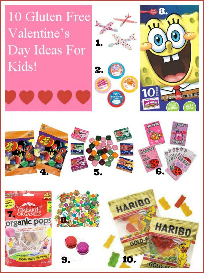 Awesome idea for a gluten free kids school Valentine's Day Party! Non candy items, gluten free candy and gluten free,peanut free and more! All very affordable!