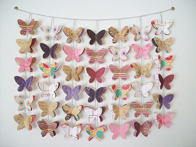 Soft butterfly paper cut wall hanging