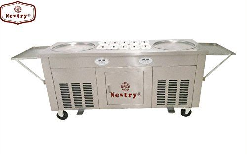 fruit milk yogurt ice cream roll making machine Thai double pans fried ice cream machine with 10 material boxes * Want to know more, click on the image.