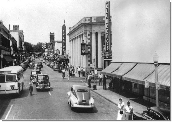 1940 Downtown - looking across Main St at Foster St - Dothan, AL