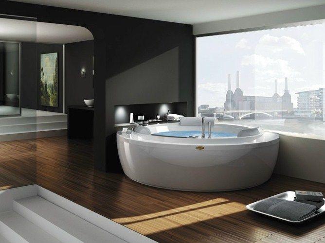 Eck- Whirlpool runde Badewanne NOVA CORNER by Jacuzzi Europe Design Carlo Urbinati