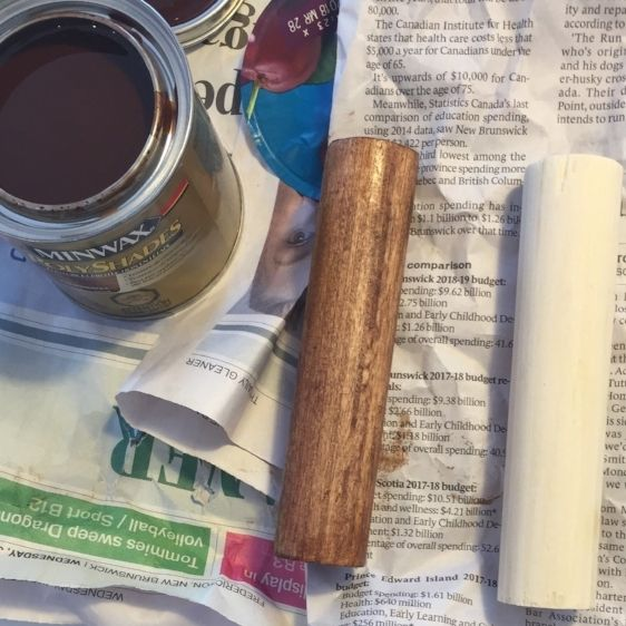 DIY wooden dowel wall hooks cheap and easy