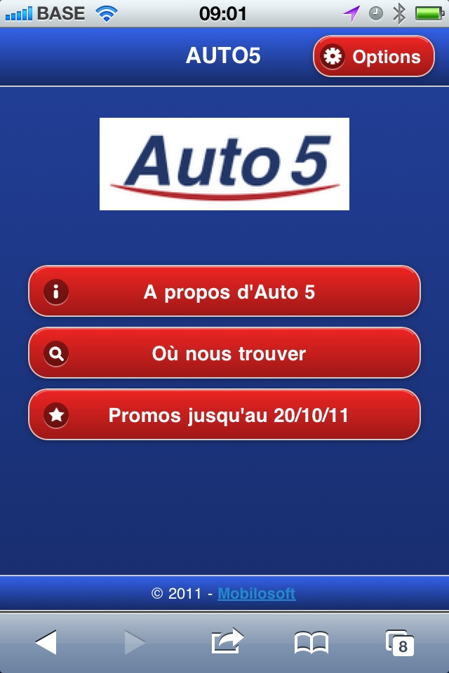Auto5 's mobile website is live - Mobilosoft