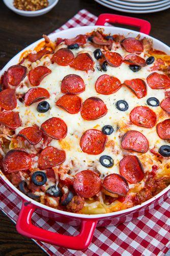 Pepperoni Pizza Casserole | Recipe