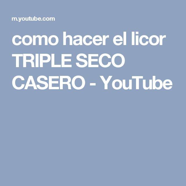 como hacer el licor TRIPLE SECO CASERO - YouTube