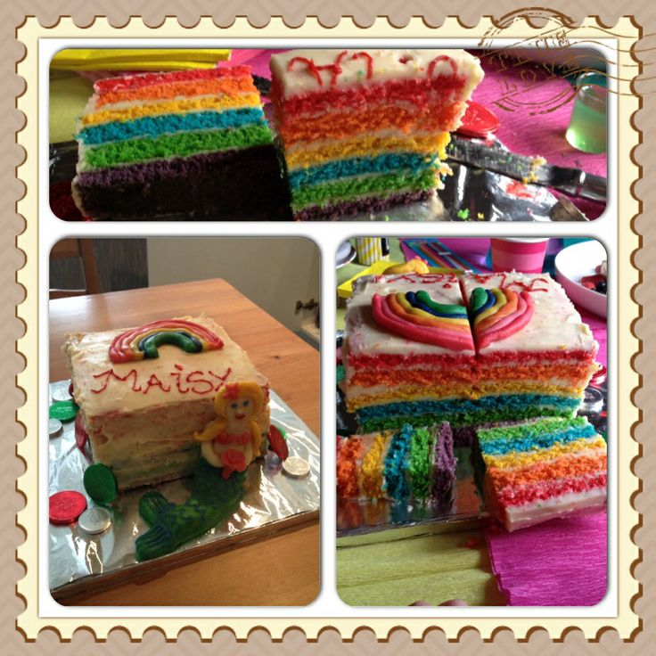 Vanilla sponge rainbow cake