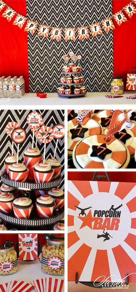 American Ninja Warrior themed Printable Birthday Party ...