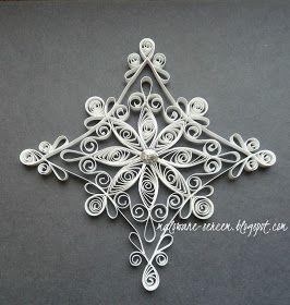 Czas najwyższy na odrobinę świątecznych dekoracji.   It's time for snowflakes :)     Zgłoszona do Wyzwania # 9 Magiczne                   ...