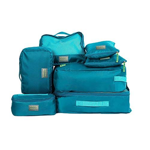 9016ce6d08ec Joyoldelf Travel Essential Bags-in-Bag Packing Cubes, Set of 7 ...