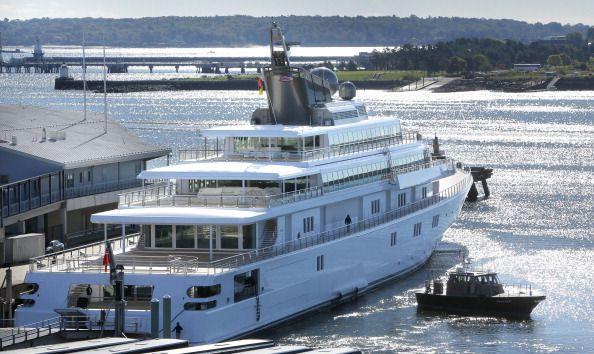 David Geffen's yacht Rising Sun came into Portland on Tuesday morning September 24 2013