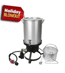 Cajun Injector Propane Gas Backyard Camping Turkey or Seafood Deep Fat Fryer