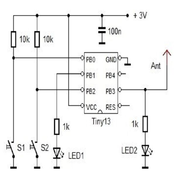 using an led as a simple rf detector