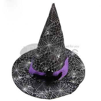 Halloween Accessories Black Spider Female Shaman Hat