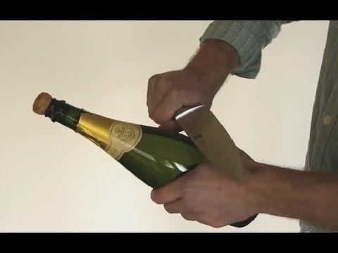 Как открыть бутылку шампанского по гусарски - видео инструкция бесплатно