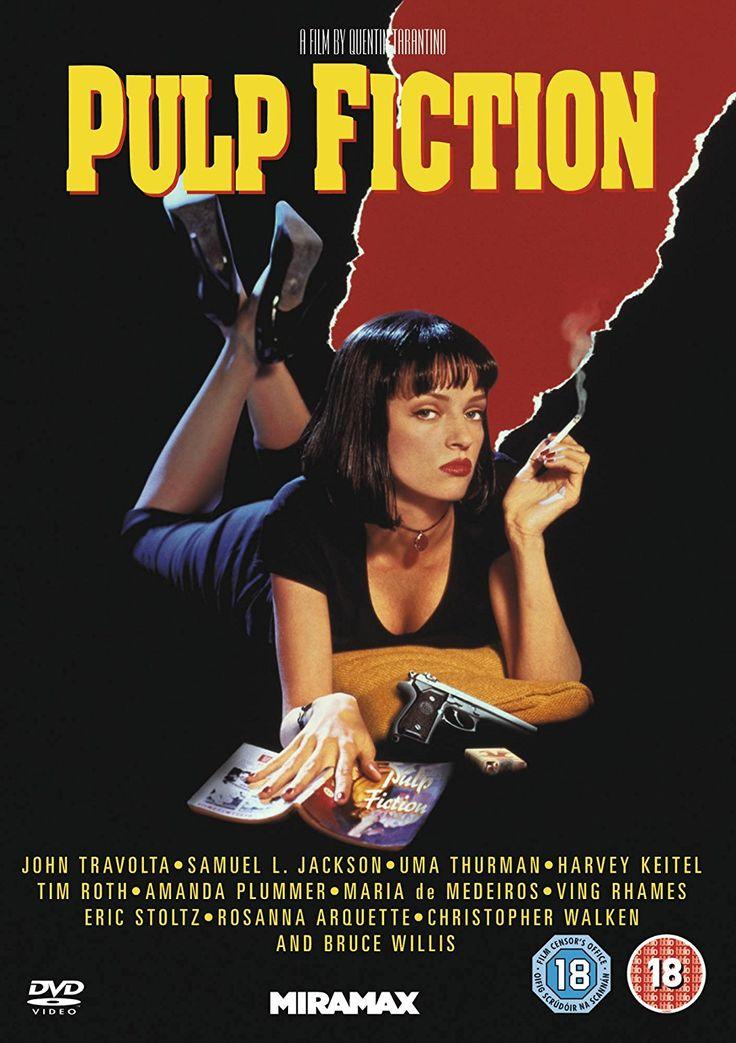 Pulp Fiction [DVD]: Amazon.co.uk: Samuel L. Jackson, John Travolta, Uma Thurman, Amanda Plummer, Harvey Keitel, Tim Roth, Eric Stoltz, Maria de Medeiros, Rosanna Arquette, Christopher Walken, Bruce Willis, Ving Rhames, Quentin Tarantino, Lawrence Bender: DVD & Blu-ray