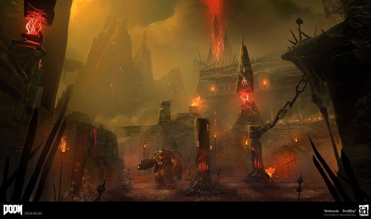ArtStation - DOOM - Hell Paintovers, Colin Geller