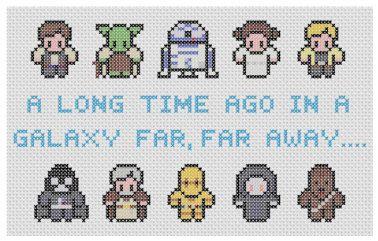 Star Wars Characters Cross Stitch Pattern PDF by XStitchMyHeart