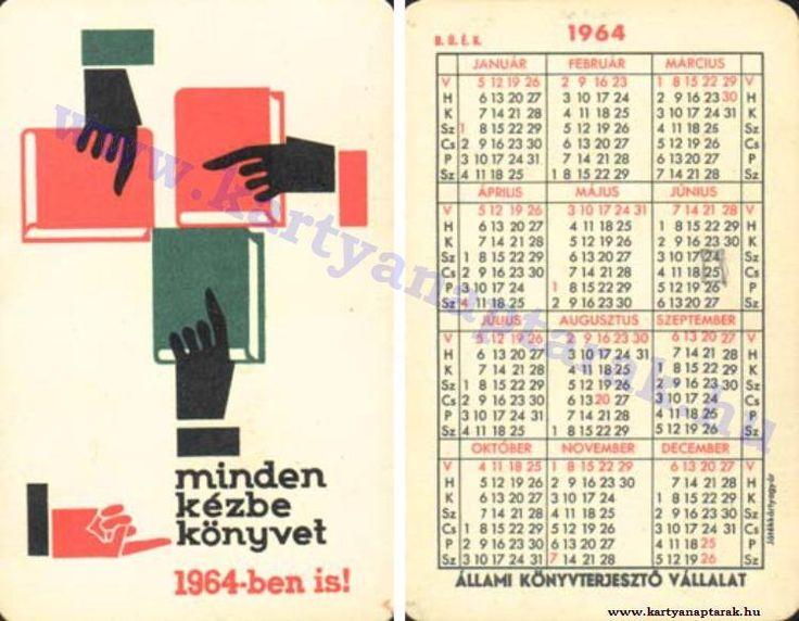 1964 - 1964_0163 - Régi magyar kártyanaptárak