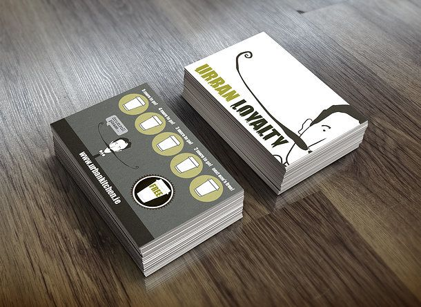 Urban Kitchen: loyalty card design