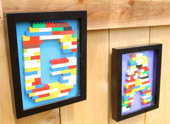 LEGO monogram wall art