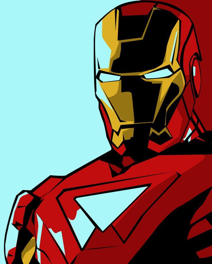 Iron Man Pop-Art By Iamherecozidraw.deviantart.com On