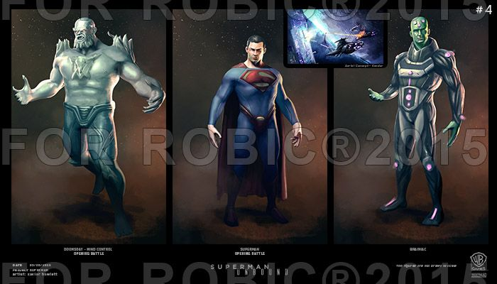New Concept Art For Rumored SUPERMAN Game Features Doomsday