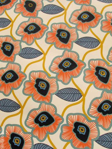 floral: Poppies Patterns, Colors Combos, Floral Prints, Floral Patterns, Flowers Patterns, Fabrics Patterns, Flowers Prints, Orange Flowers, Poppies Prints